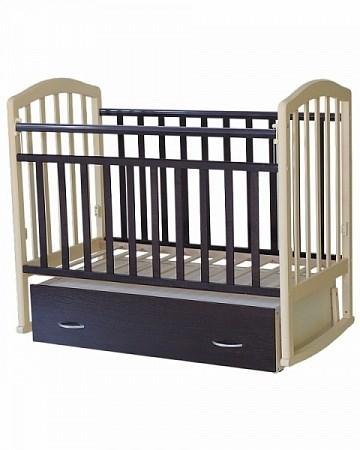 Кроватка для новорожденных Антел Алита-4 (венге-слоновая кость)