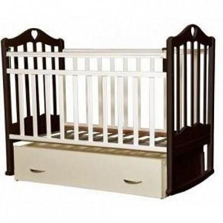 Кроватка для новорожденных Антел Каролина-4 (венге-слоновая кость)