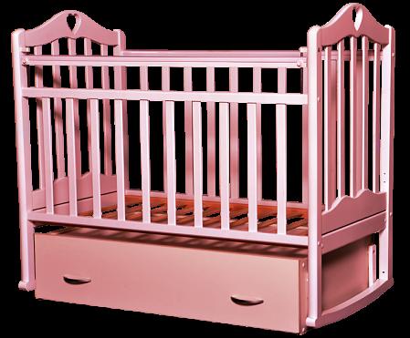 Кроватка для новорожденных Антел Каролина-4 (розовый)
