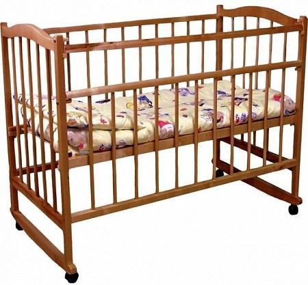 Кроватка для новорожденных Фея 204 (орех)