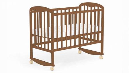 Кровать детская для новорожденных Фея 323 (орех)