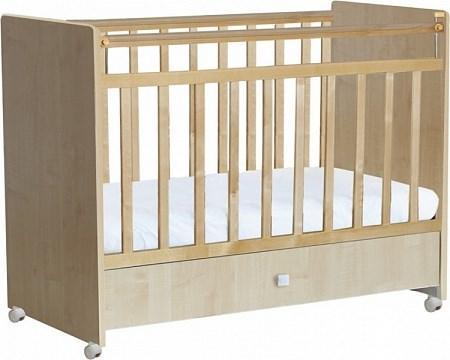 Кроватка для новорожденных Фея 700 (клен)