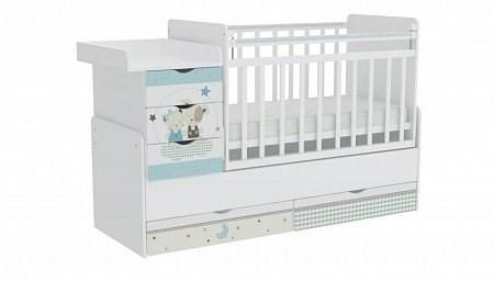 Детская кровать трансформер Фея 1150 Лучшие друзья (белый)