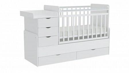 Детская кровать трансформер Фея 1150 (белый)