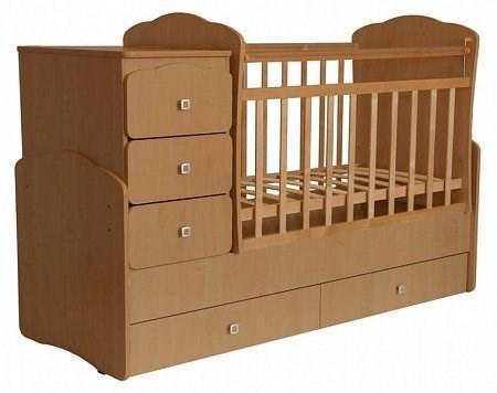 Детская кровать трансформер Фея 2100 (бук)