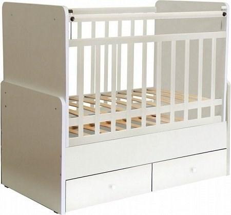 Детская кровать трансформер Фея 720 (белый)