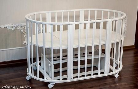 Детская кровать трансформер Агат Папа Карло 6 в 1 (бежевый)