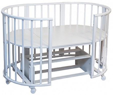 Детская кровать трансформер Агат Папа Карло 6 в 1 (белый)
