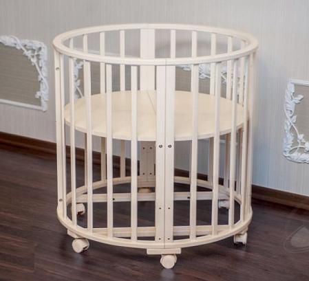 Детская кровать трансформер Агат Папа Карло 5 в 1 (бежевый)