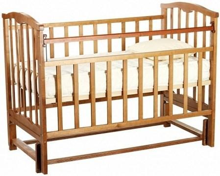 Кроватка для новорожденных Агат Золушка-5 (орех)