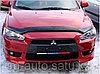 Мухобойка (дефлектор капота) на Mitsubishi Lancer Митсубиши лансер 2011-