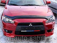Мухобойка (дефлектор капота) на Mitsubishi Lancer Митсубиши лансер 2011-, фото 1