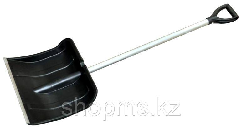Лопата для уборки снега пластиковая цветная, алюминиевый черенок 380х365х1340 мм