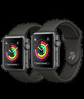 Apple Watch Series 3 38 мм.  Корпус из алюминия цвета «серый космос»
