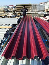 Профлист с цветным полимерным покрытием Н75 0,5мм любой цвет по RAL