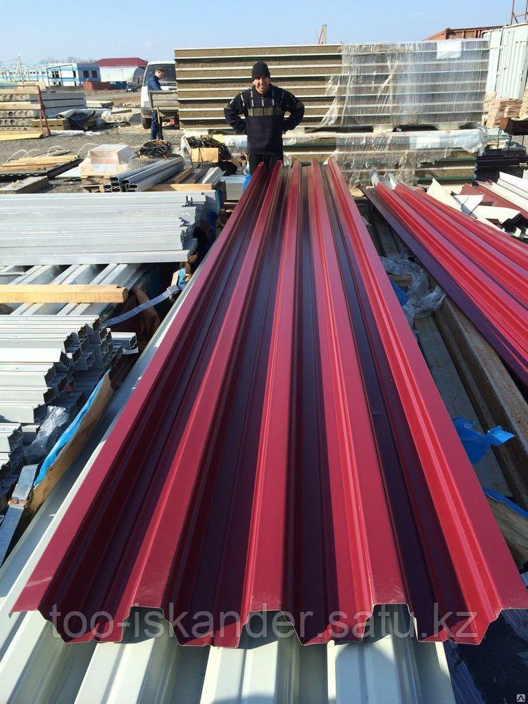 Профлист с цветным полимерным покрытием Н75 0,7мм любой цвет по RAL