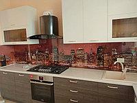 Cтеклянный фартук с любым изображением для рабочей зоны кухни.