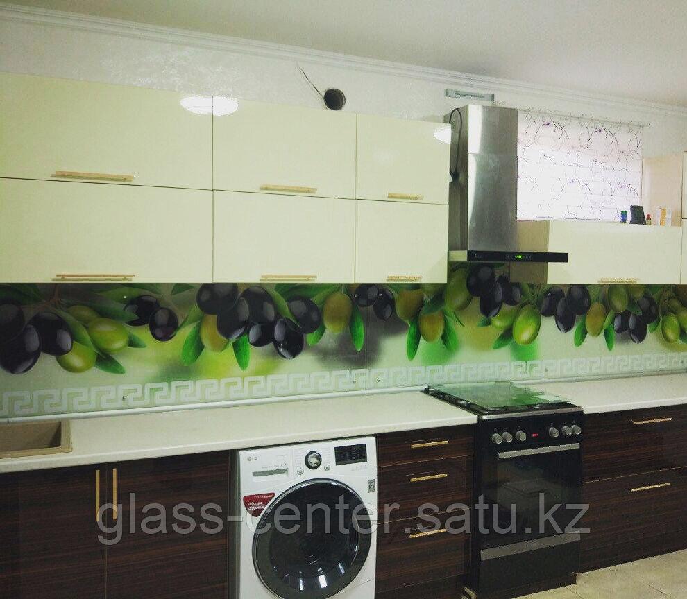Фартук для кухни с изображением из высокопрочного стекла. Скинали - фото 3