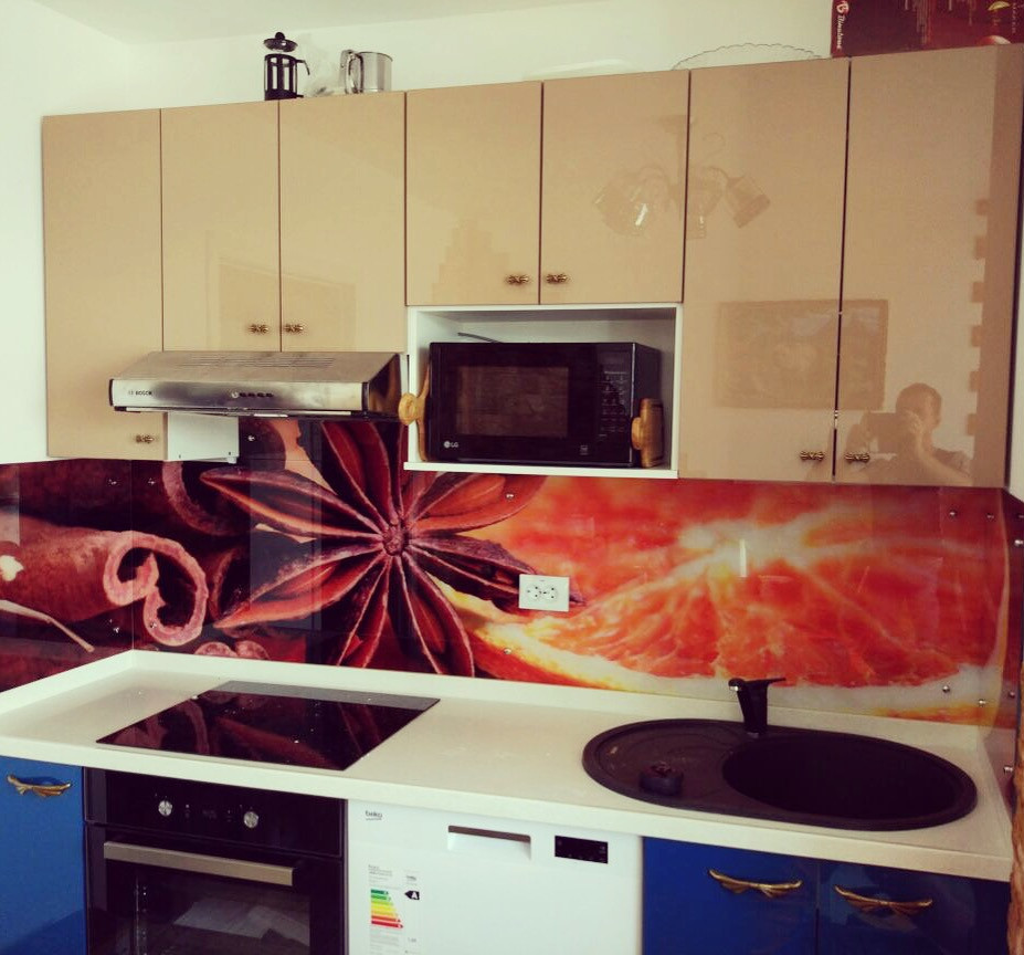 Фартук для кухни с изображением из высокопрочного стекла. Скинали - фото 4