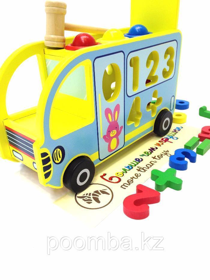 """Занимательный деревянный автобус """"Считалочка"""""""