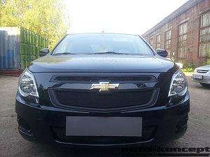 Защита радиатора Chevrolet Cobalt 2013- black верх