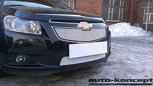 Защита радиатора Chevrolet Cruze 2009-2013 chrome верх
