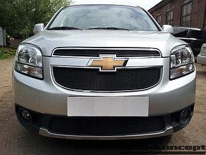 Защита радиатора Chevrolet Orlando black середина