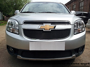 Защита радиатора Chevrolet Orlando black верх