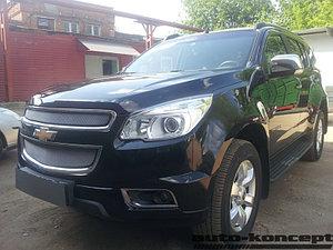 Защита радиатора Chevrolet Trailblazer 2013- (2 части) chrome