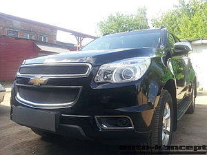Защита радиатора Chevrolet Trailblazer 2013- (2 части) black