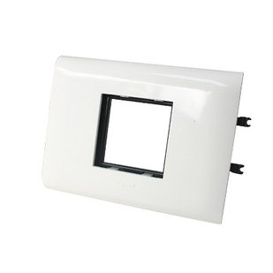 10992 - Суппорт/Рамка 2 модуля, DLP Крышка 85мм