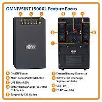 Линейно-интерактивный ИБП Tripp Lite серии OmniVS мощностью 1500 ВА, OMNIVSINT1500XL