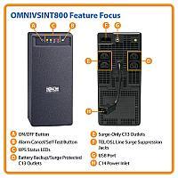Линейно-интерактивный ИБП Tripp Lite серии OmniVS мощностью 800 ВА, OMNIVSINT800