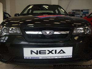 Защита радиатора Daewoo Nexia 2010- black