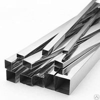 Труба профильная 80 х 80 х2.0 AISI 304 (08Х18Н10) квадратная L=6000мм, м, фото 1