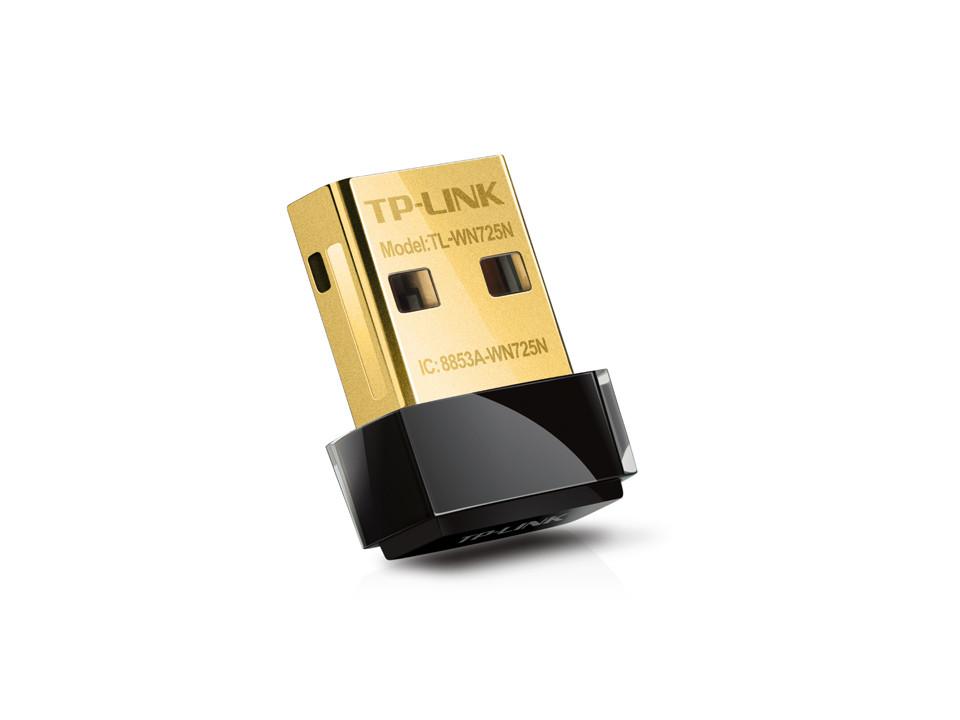 Беспроводной Nano сетевой USB-адаптер серии N, TP-Link, TL-WN725N(RU)