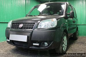 Защита радиатора Fiat Doblo (I рестайлинг) 2005-2014 black