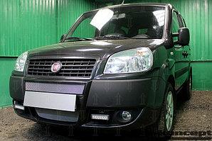 Защита радиатора Fiat Doblo (I рестайлинг) 2005-2014 chrome