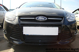 Защита радиатора Ford Focus III 2011-2014 black