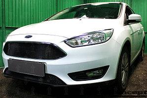 Защита радиатора Ford Focus III (рестайлинг) 2014- black верх