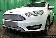 Защита радиатора Ford Focus III (рестайлинг) 2014- chrome низ