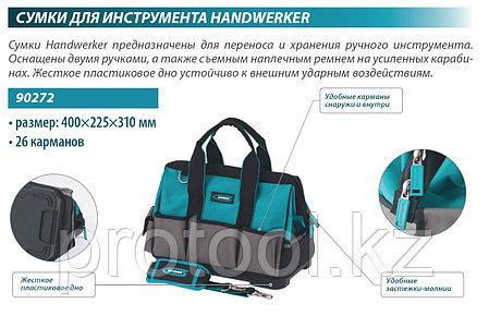 Сумка для инструмента Handwerker, 26 карманов, пластик. дно, наплечный ремень, 400*225*310мм// GROSS, фото 2