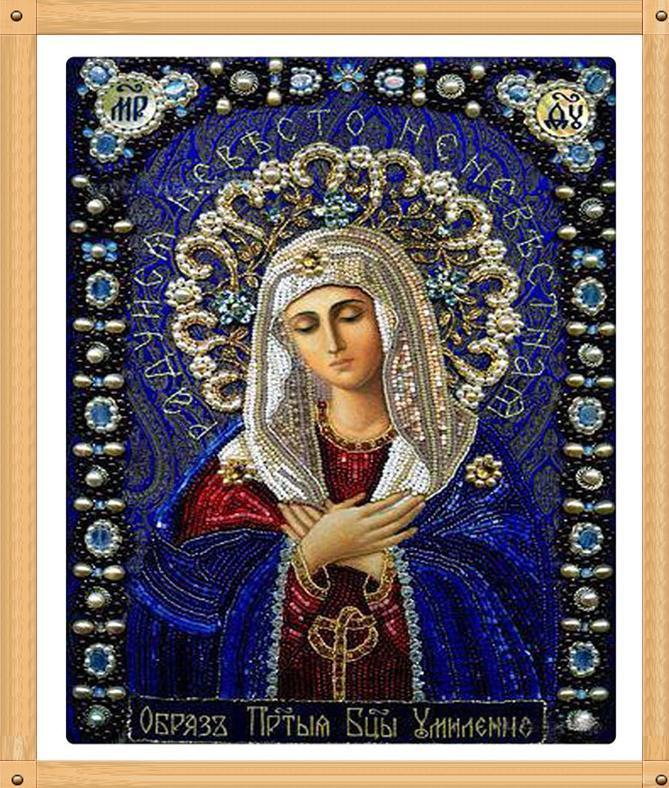 """Картины стразами на подрамнике """"Икона Божией Матери - Умиление 2"""""""