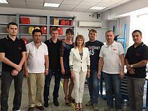 Коллектив Лаборатории и Сервис-центра в городе Алматы с генеральным директором Мариной Александровной Кочетовой
