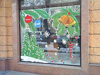 Новогоднее оформление витрин, фото 1