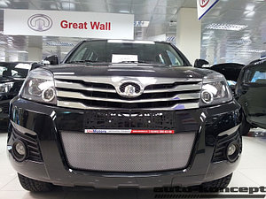 Защита радиатора Great Wall Hover H3 2010-2014 chrome