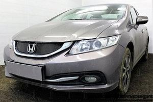 Защита радиатора Honda Civic IX (рестайлинг) 2013-2017 black