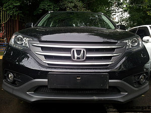Защита радиатора Honda CR-V IV 2012-2015 2.0 black