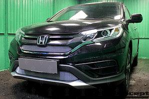 Защита радиатора Honda CR-V IV 2015-2017 2.0 chrome низ