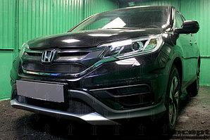 Защита радиатора Honda CR-V IV 2015-2017 2.0 black верх